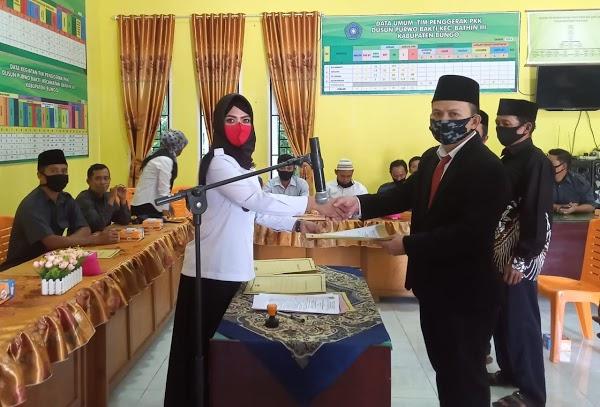 Pelantikan Sekdus dan RT di Lingkup Dusun Purwo Bhakti